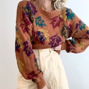 Vintage Oversized Chunky Knit Pullover